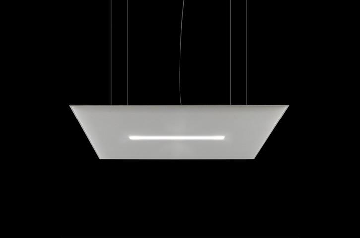 Oversize lux da soffitto pannello fonoassorbente e lampadario - Riganelli Arredamenti