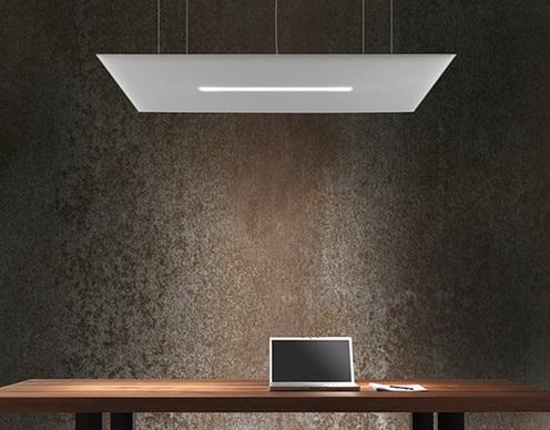 Oversize lux pannelli acustici da soffitto con luci lampadario led - Riganelli Arredamenti