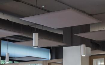 Oversize pannelli acustici da soffitto per ufficio ristorante rumori sottofondo - Riganelli Arredamenti