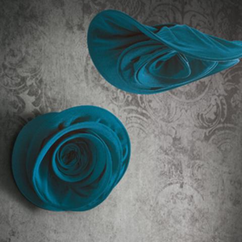 Si sboccia pannello fonoassorbente di design rosa blu - Riganelli Arredamenti