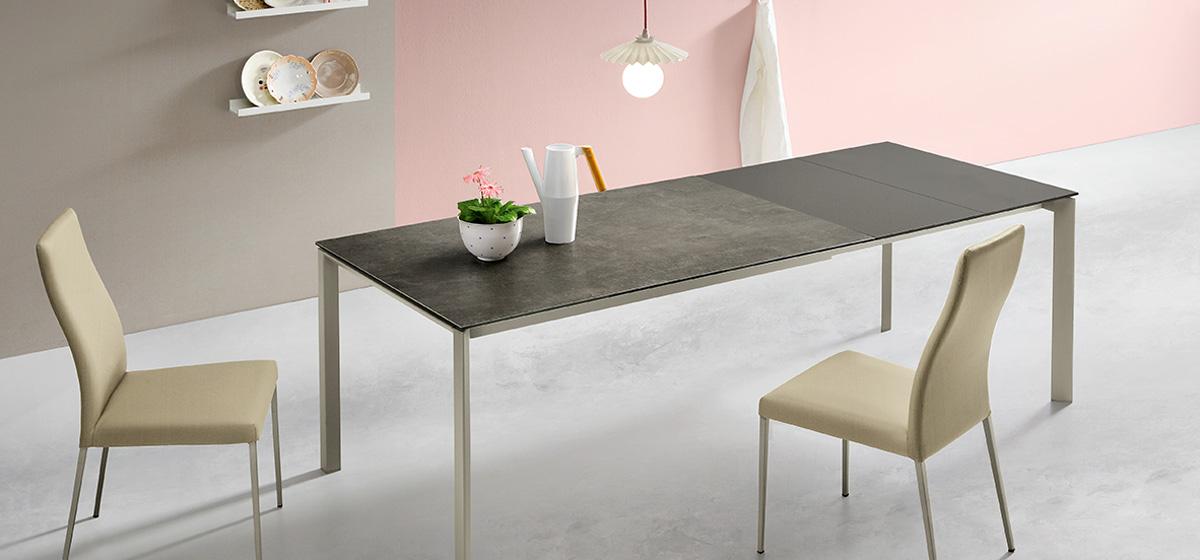 klass tavolo allungabile zona giorno casa design - riganelli arredamenti