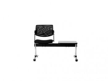 sedie attesa con tavolino - riganelli arredamenti
