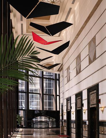 V-Flap pannelli fonoassorbenti colorati sospesi dal soffitto - Riganelli Store