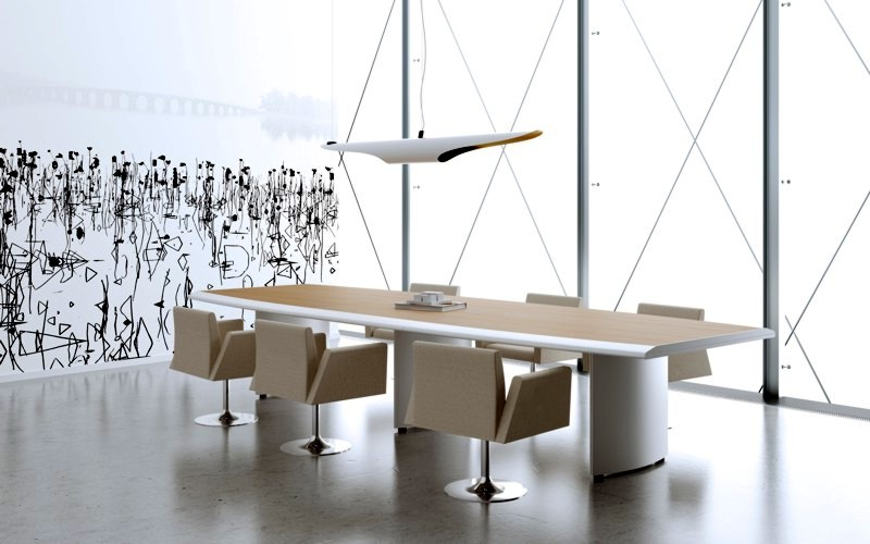 Tavolo Riunioni Per L Ufficio.Bella Ed Efficiente La Sala Riunione Che Funziona