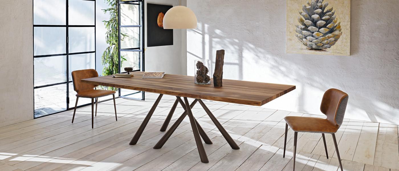 Forest tavolo legno massello - riganelli