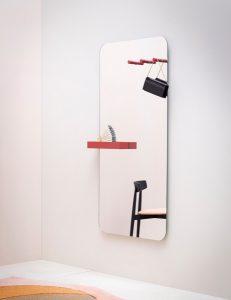 Specchio per ufficio da donna con gancio appendiborsa - riganelli