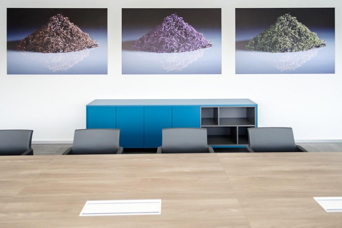 tavolo per sala riunione con poltrone - riganelli