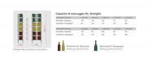 scaffalatura acciaio inox per vini bordolese spumante - riganelli