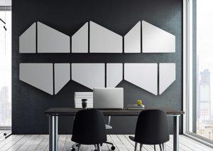 Pannelli fonoassorbenti design per ufficio snowsound - riganelli
