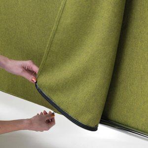 Sepà divisorio con tessuto fonoassorbente lavabile - riganelli