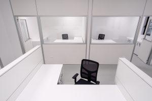 Uffici privati realizzati con pareti divisorie - riganelli