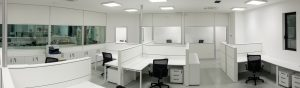 dettaglio realizzazione e arredo uffici open space - riganelli