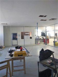 inizio lavori di realizzazione arredo ufficio openspace - riganelli
