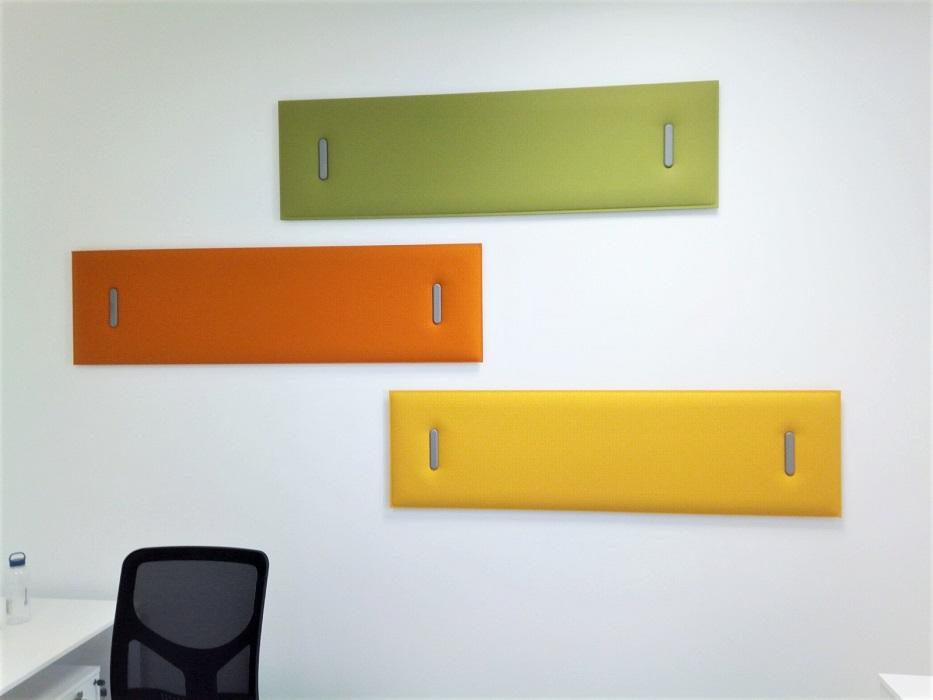 pannelli fonoassorbenti colorati per comfort acustico in ufficio - riganelli