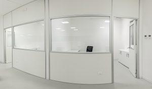 pareti divisorie con finestre in vetro - riganelli