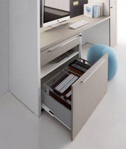 composizione scrivania con cassettiera e classificatore - riganelli