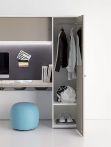oxford composizione scrivania con cassettiera classificatore e armadietto personale - riganelli