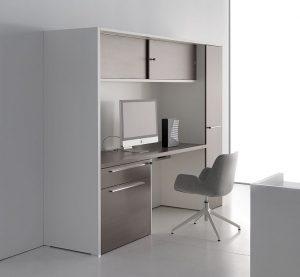 oxford postazione scrivania con mobili ad ante scorrevoli armadietto cassetti e classificatore - riganelli