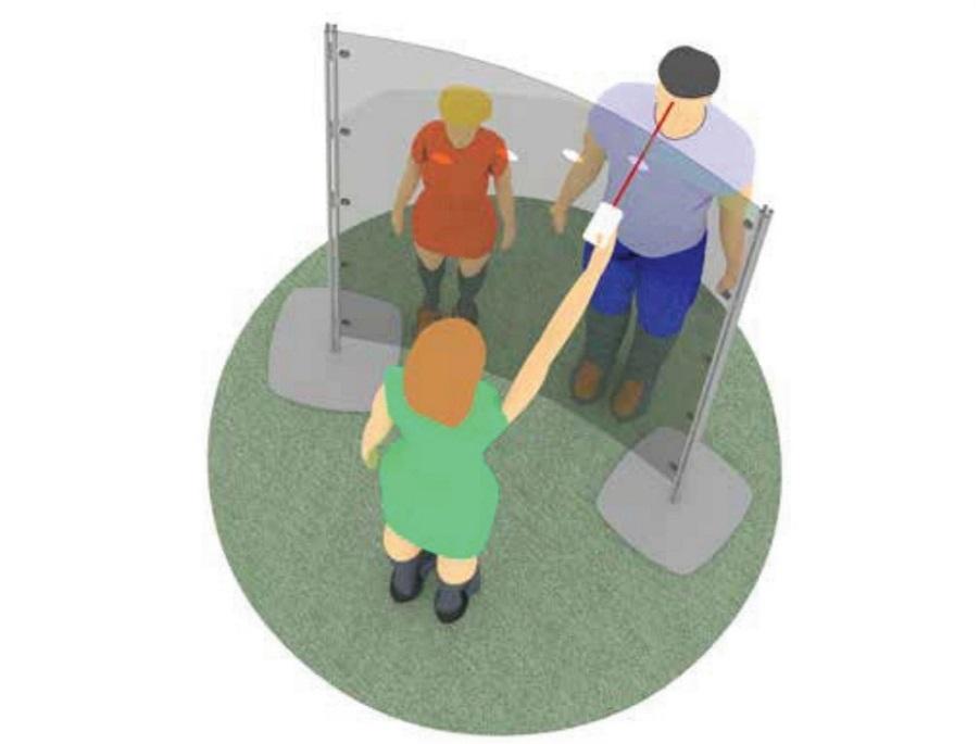 Arianna Safety schermo trasparente per misurazione temperatura ingresso in azienda - riganelli