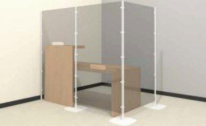 arianna safety divisorio trasparente modulare - riganlli