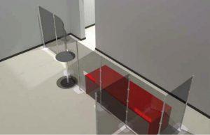 arianna safety pareti divisorie mobili per protezione in ufficio - riganelli