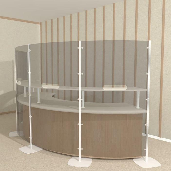 arianna safety divisori trasparenti per bancone ingresso -riganelli