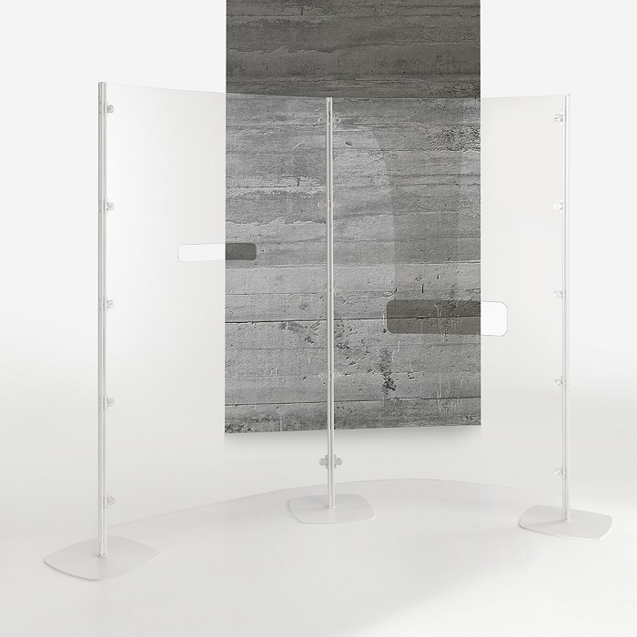 arianna safety divisorio trasparente con foro passaggio documenti -riganelli