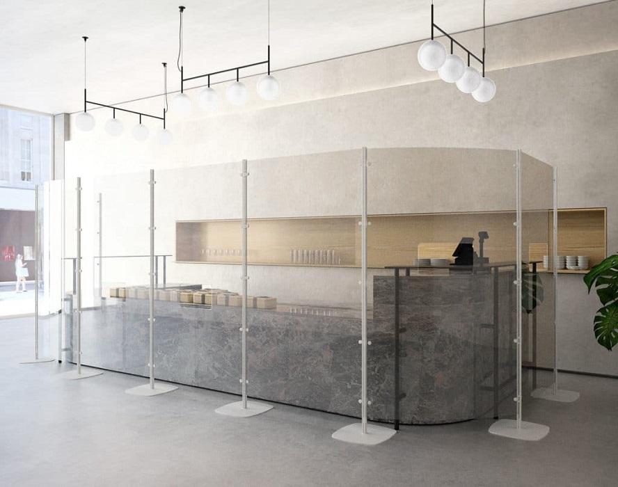 arianna safety paretine divisorie trasparenti per reception -riganelli