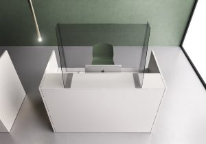 barriere protettive in plexiglass per reception - riganelli