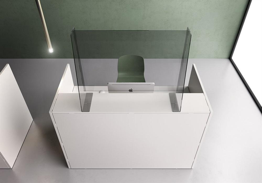 barriere protettive in plexiglass per reception - riganelli