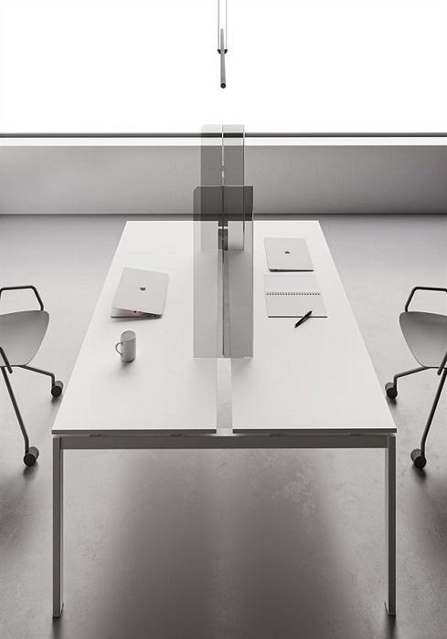 pannello divisorio in plexiglass per scrivania - riganelli