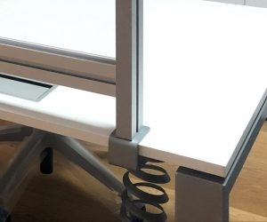 schermi di protezione ufficio divisori per scrivania con morsetto - riganelli