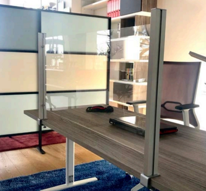 schermi divisori per scrivania o ambienti lavorativi - riganelli