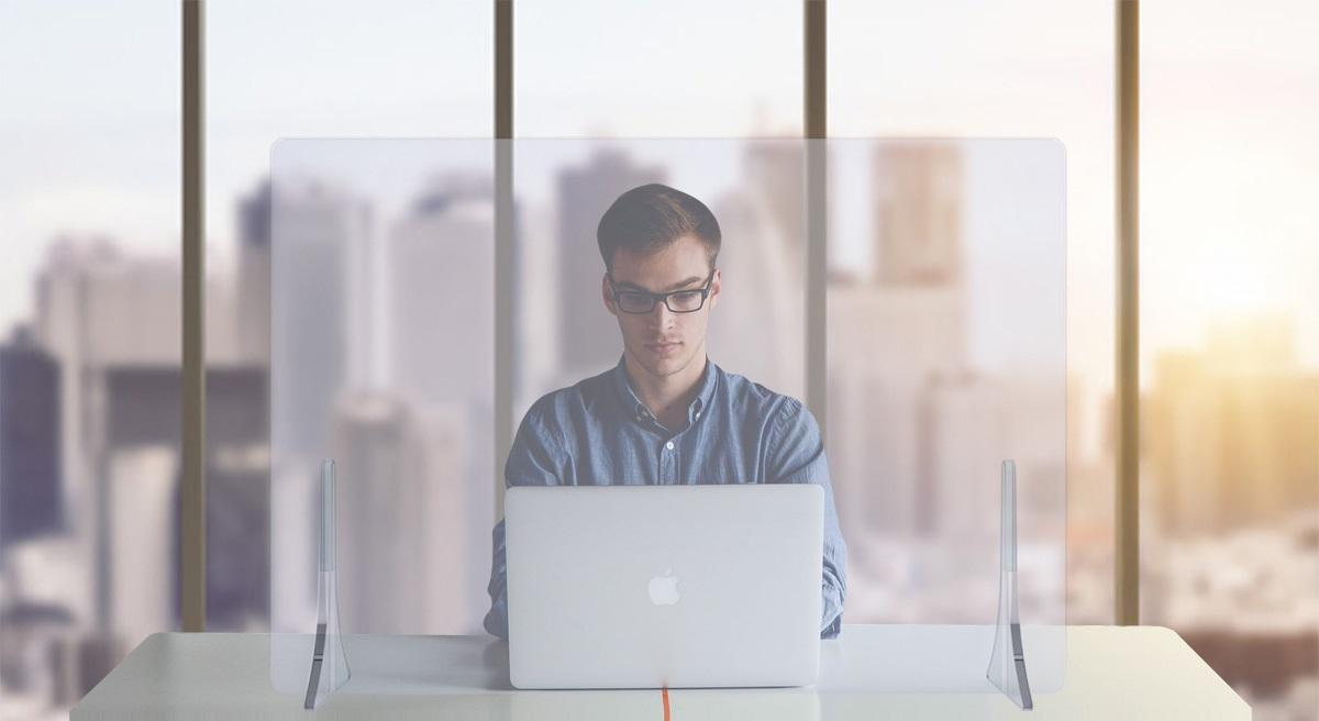 schermo in plexiglass per scrivania - riganelli