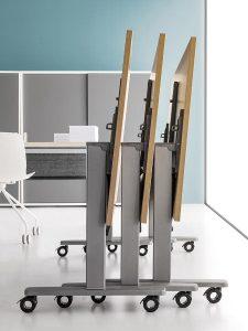 scrivania ribaltabile con ruote - riganelli
