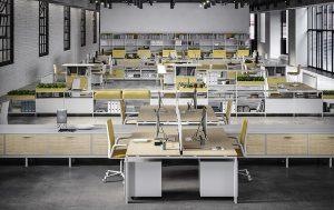 sistema di arredo per ufficio operativo open space coworking -riganelli