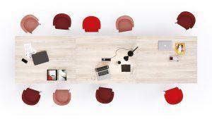 tavolo riunione in legno - riganelli