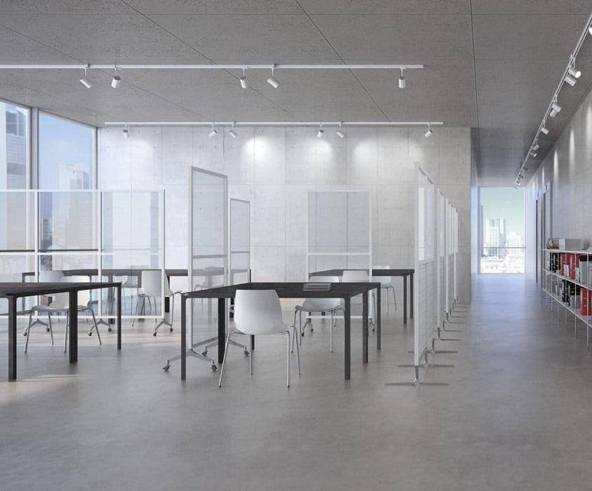 archimede safety divisori trasparenti per la sicurezza in uffici ristoranti luoghi pubblici aeroporti -riganelli