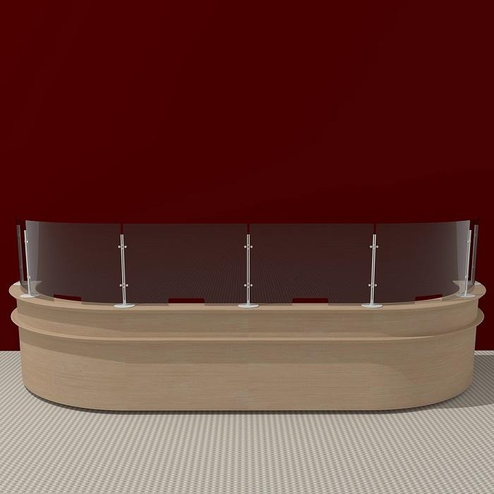 arianna desk safety divisori trasparenti igienizzabili per bancone - riganelli
