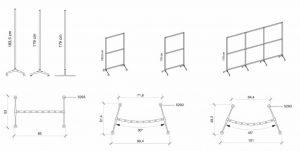 dimensioni archimede safety paretina divisoria -riganelli