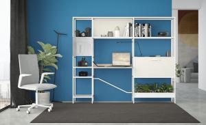 libreria con scrivania per il soggiorno -riganelli