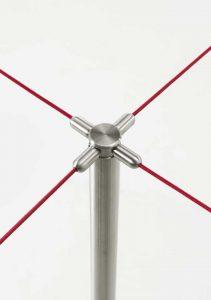 set elastic rope colonnina con elastico per fila clienti -riganelli