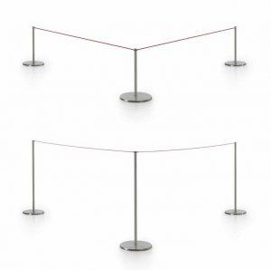 set elastic rope colonnine con elastico guida fila -riganelli