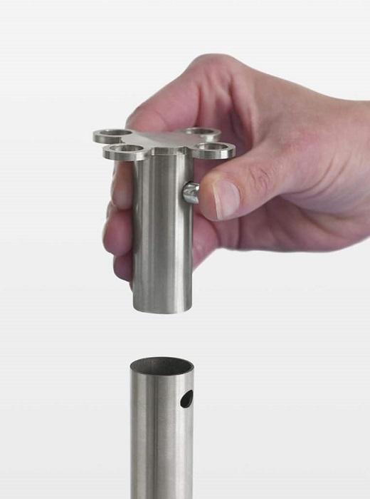 set stanchions colonnine con sistema ad innesto per accessori -riganelli