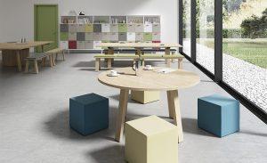 area operativa in ufficio tavoli meeting condivisi -riganelli