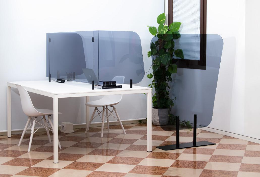 Scudo -Pannelli divisori trasparenti protettivi da scrivania e da terra - riganelli