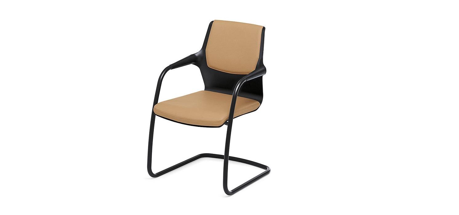 allright sedia per riunioni con sedile in pelle -riganelli