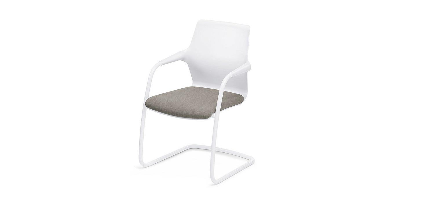 allright seduta bianca con cuscina per sala riunione riganelli