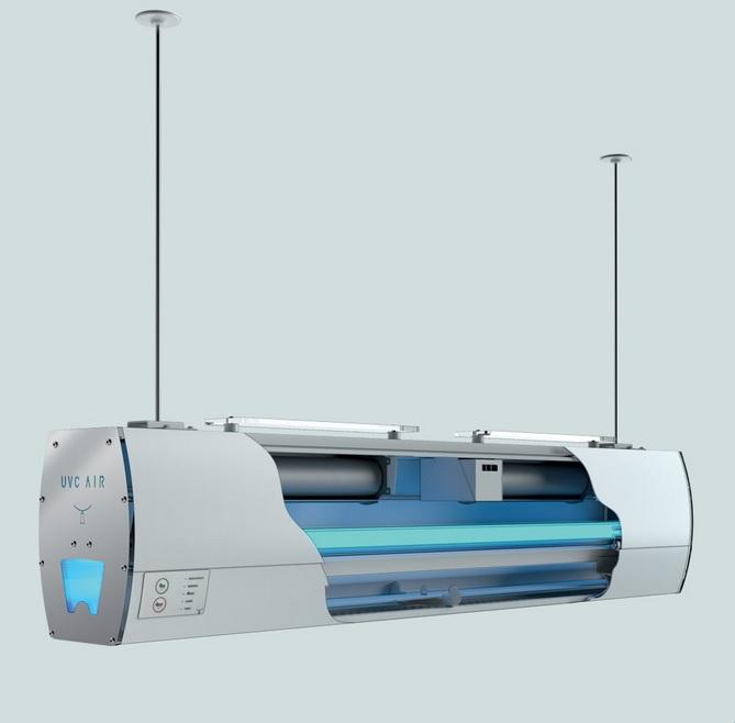 uv-c air purificatore d'aria per ricambio aria in locali pubblici e privati -riganelli