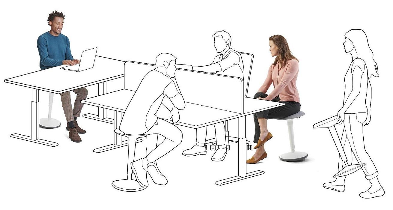 se fit sgabello elevabile per scrivania regolabile in altezza - riganelli